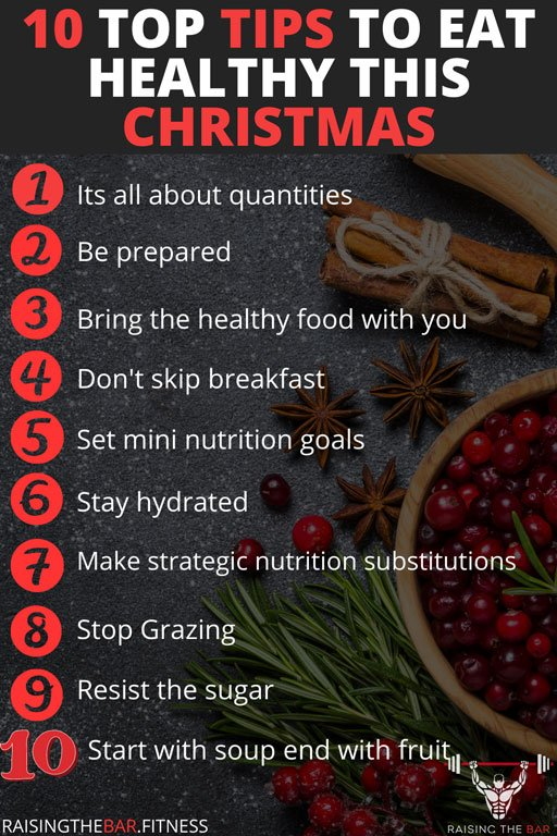 10 top tips to eat healthy this Christmas infographic.