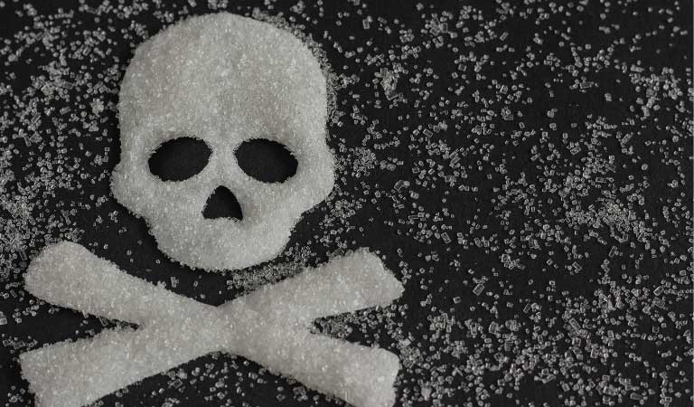 Skull and bones made out of sugar