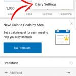 Myfitnesspal app screenshot