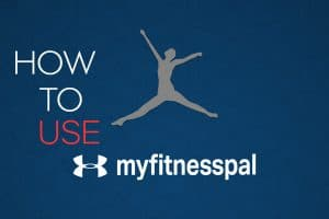 """Blog post cover image showing the Myfitnesspal logo with the words """"How to use myfitnesspal"""""""