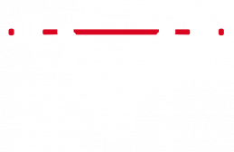 Raising the bar logo. Graphic of a muscled man lifting a bar of weights above his head