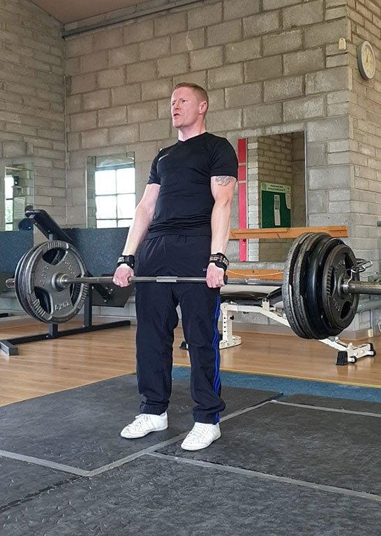 Personal trainer finbar harte dead lifting at raising the bar fitness