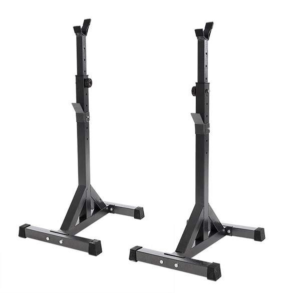 Pair of adjustable squat stands