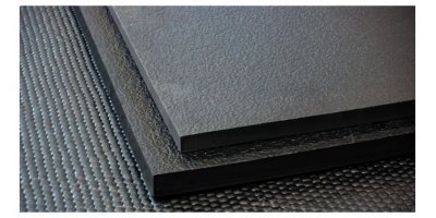 Different thickness gym flooring mats stacked up