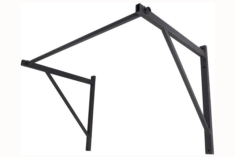 Black wall mounted pull-up bar