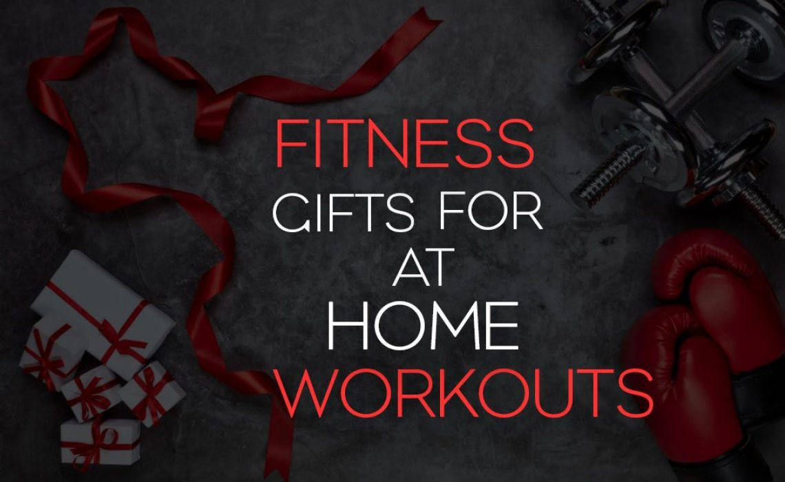Blog post title image showing dumbbells, boxing gloves and gifts with the wording