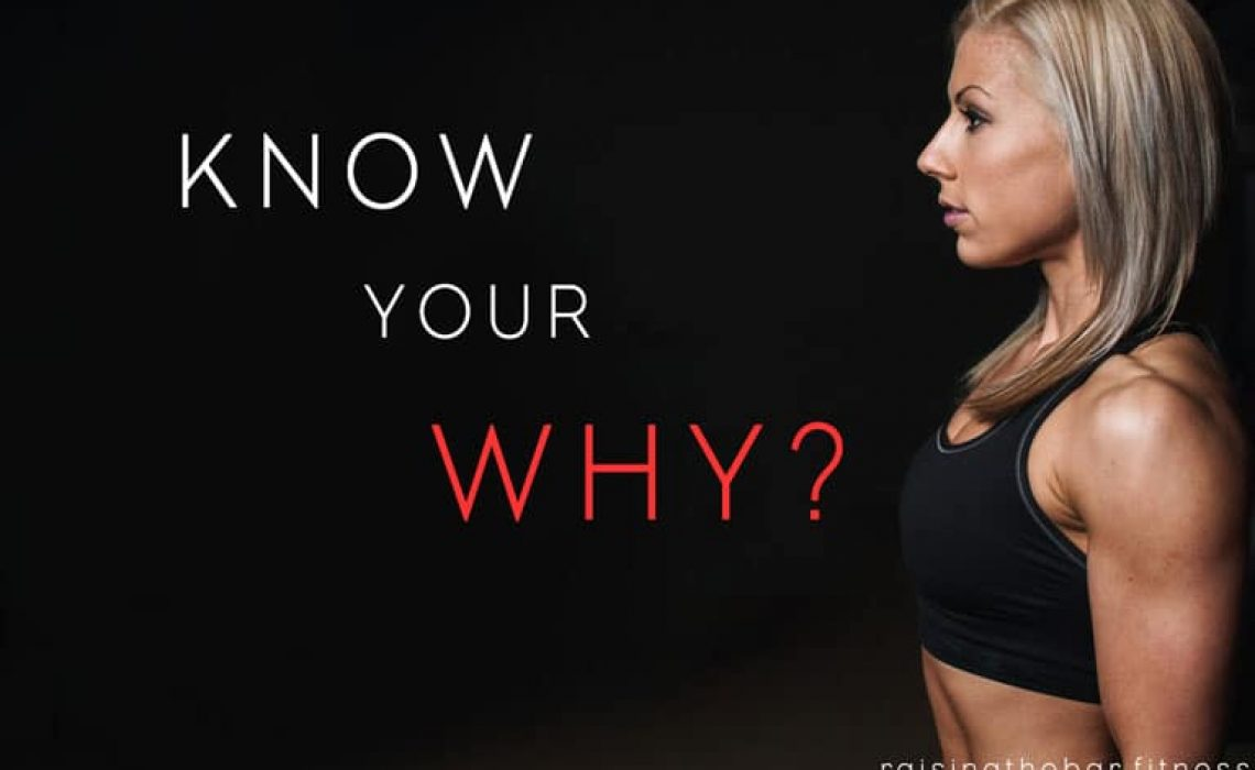 Know your why text with fit woman