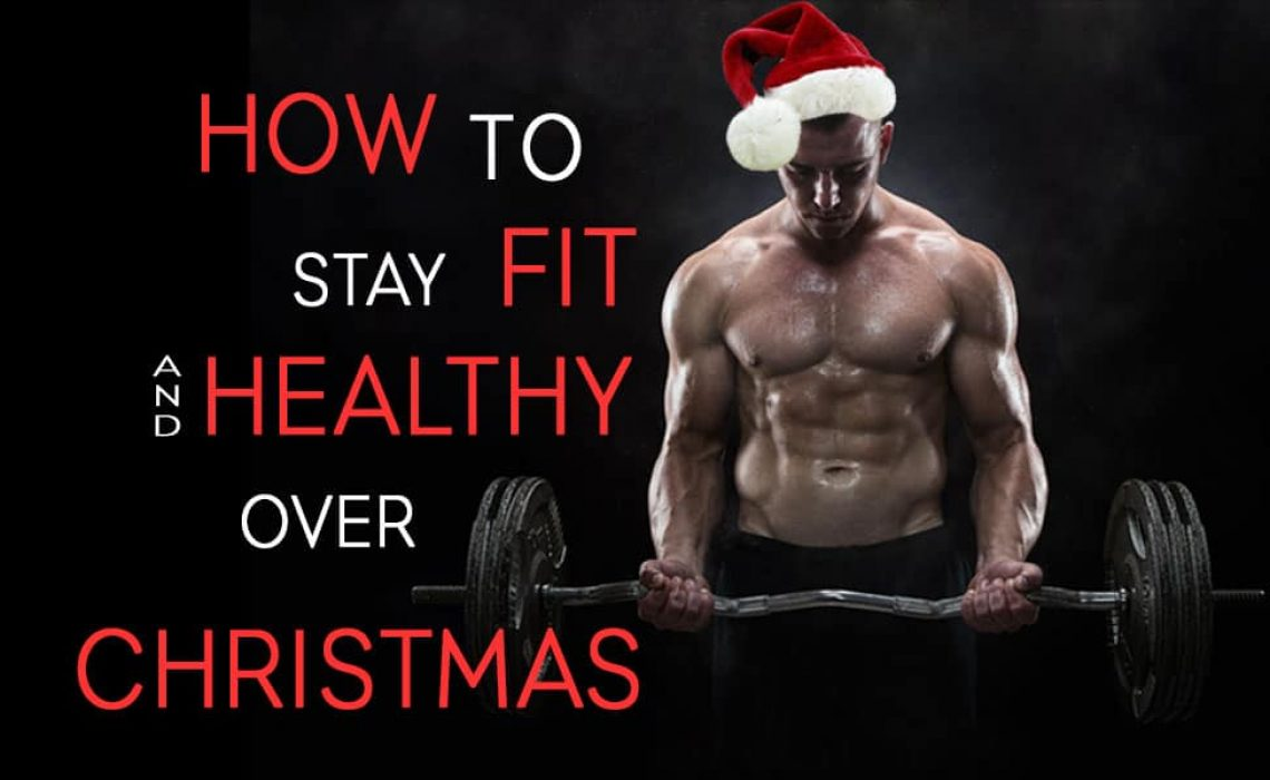 Blog title image depicting and fit muscle man in a Christmas hat doing an ex bar curl and the words saying