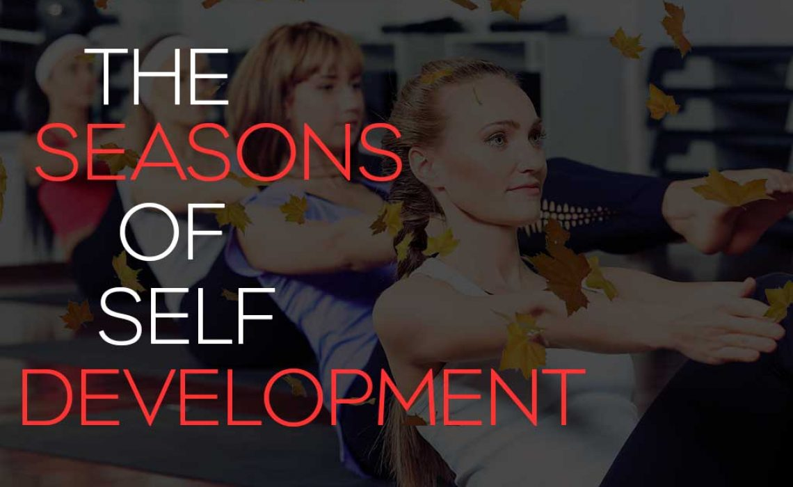 Blog post title image showing women in a fitness class with leaves falling and the words